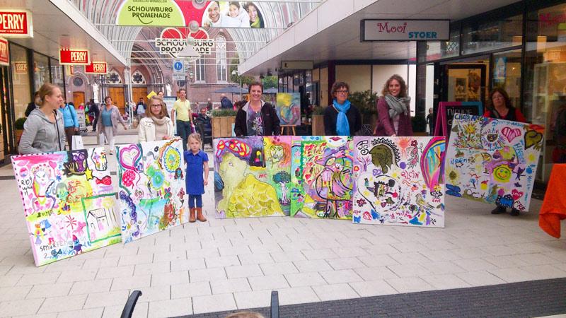 Winnaars kunstpromenade georganiseerd door Jofke en Studio Xplo in Tilburg