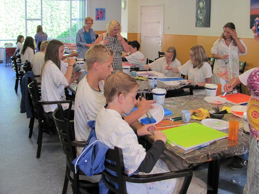 Tekenen en schilderen voor scholen bij Studio Xplo in Tilburg