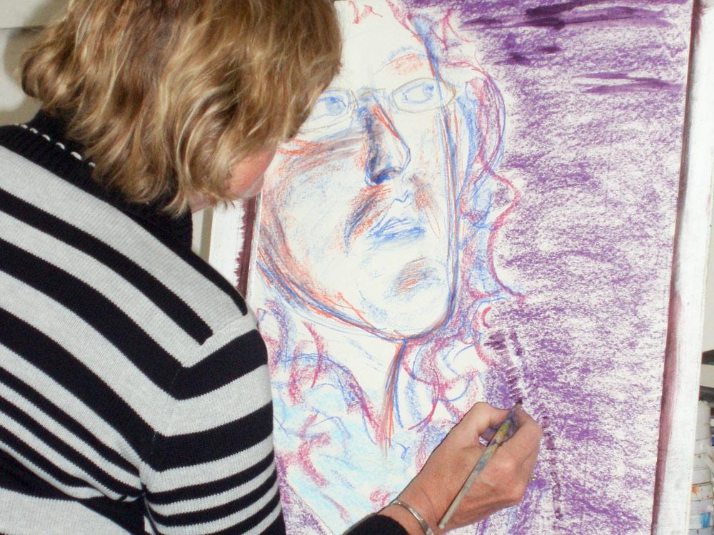 Workshop Eigenaardig Portret tekenen bij Studio Xplo in Tilburg