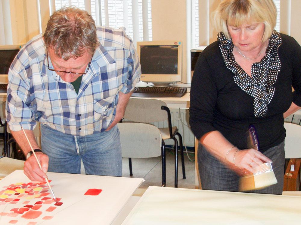 workshop Experimenteel aquarel bij Studio Xplo in Tilburg