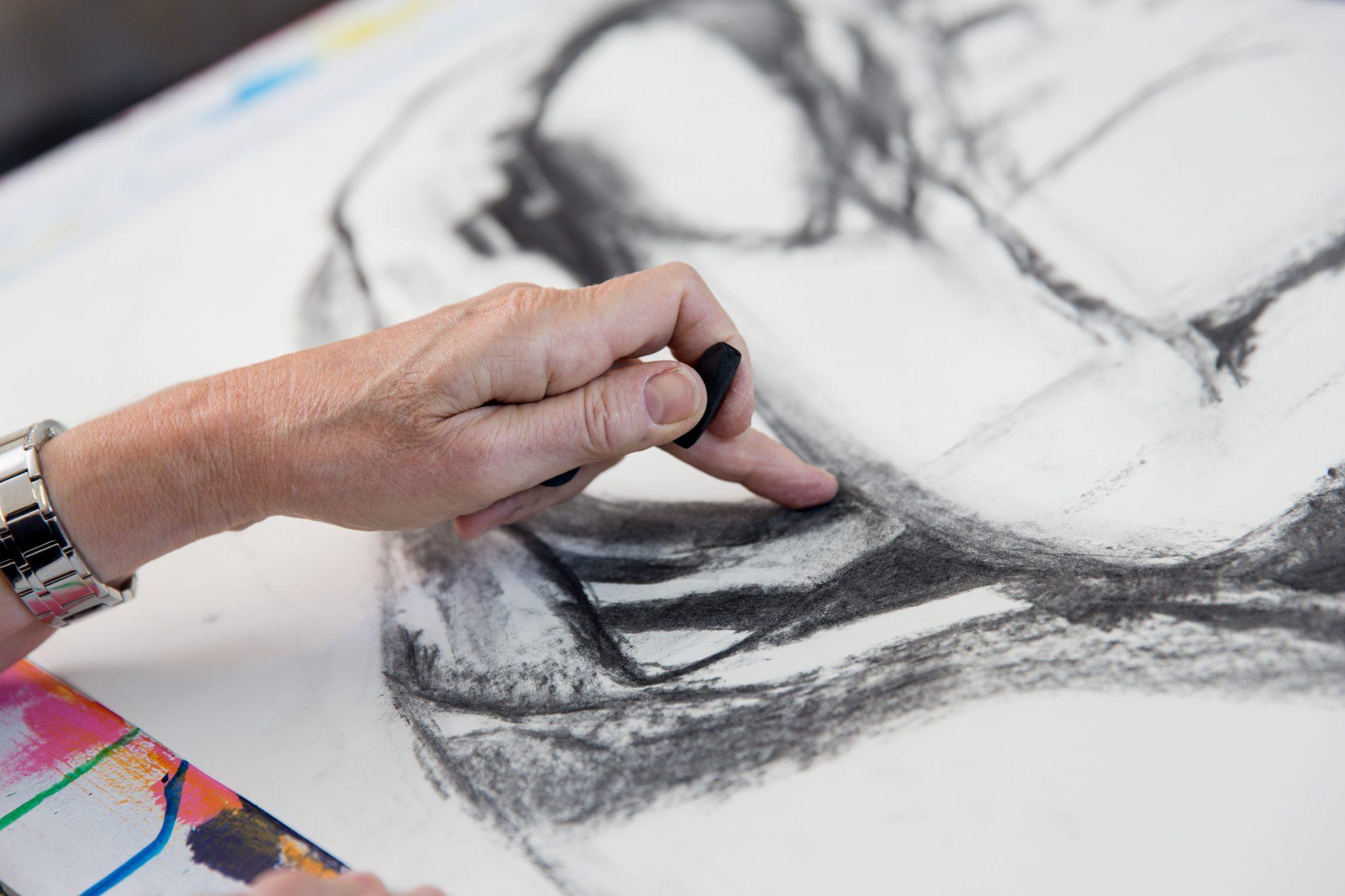 Impressie tekenles bij Studio Xplo