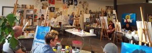 Impressie Bob Ross workshop bij Studio Xplo