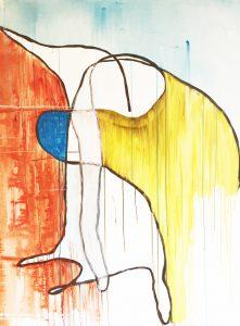 Voelen, acrylverf canvas, 120 x 160 cm